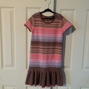 Gap Kids Girls Short Sleeve Stripe Sweater Dress